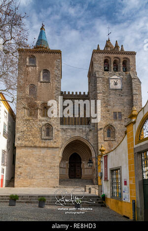 Se de Evora cathedral, Evora, Alentejo, Portugal - Stock Image