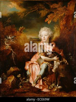 Portrait of a Boy in Fancy Dress; Nicolas de Largillierre, French, 1656 - 1746; about 1710 - 1714; Oil on canvas; - Stock Image