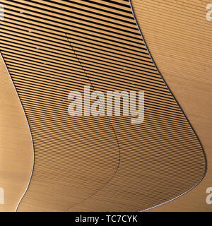 Detail of Oodi, Helsinki Central Library - Stock Image