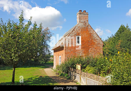 A view of Toad Hole Cottage traditional marshman's home on the How Hill National Nature Reserve at Ludham, Norfolk, England, United Kingdom, Europe. - Stock Image
