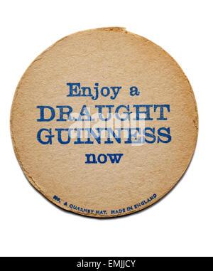 Vintage Guinness Beermat - Stock Image