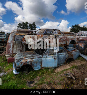 Smash Palace auto scrap yard on North Island, New Zealand. - Stock Image