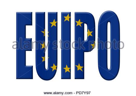 Digital Illustration - EU agency. EUIPO European Union Intellectual Property Office, Amt der Europäischen Union für geistiges Eigentum, Bureau voor in - Stock Image