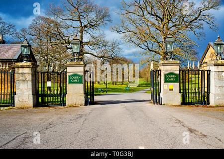 County Durham, Wynyard Hall, Golden Gates, England - Stock Image
