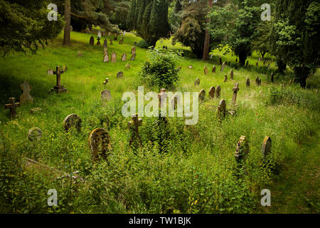 Halesworth Victorian Cemetery, Halesworth Suffolk, England UK. June 2019 Victorian period headstones in Halesworth community cemetery. - Stock Image