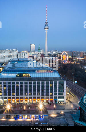 Panoramic view from Dome Roof Top to Alex , Berlin, Germany - Stock Image