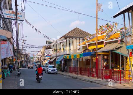 Heritage Walking Street, Luckmoeng street, Kanchanaburi, Thailand - Stock Image