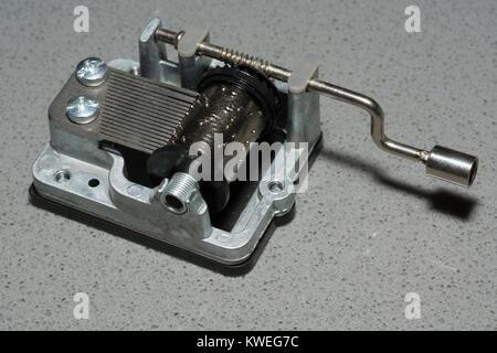 Music box mechanism - Stock Image