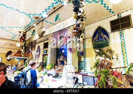 Crustacea, fish stall, fish market, fish shop, fish store, wet fish shop, crustaceans, fresh fish shop, fresh fish - Stock Image