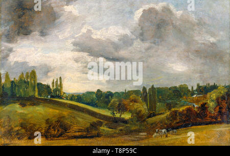 John Constable, View at East Bergholt, landscape painting, c. 1813 - Stock Image