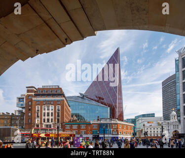 Cityscape with Nova, a striking modern high rise building by Morpheus London, a mixed use development in Belgravia by London Victoria station, Westminster, SW1, UK - Stock Image
