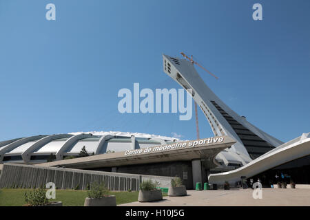 Olympic Stadium, Montreal, Canada - Stock Image