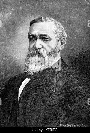 Portrait of General Benjamin Harrison, President of the United States, 1889 to 1893 - Stock Image
