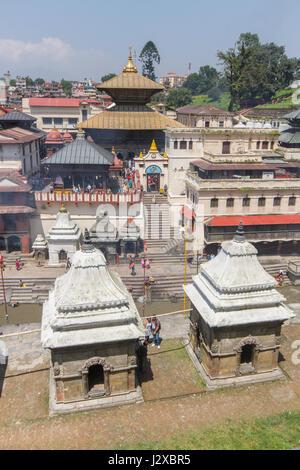 East side of Pashupatinath Temple complex, Kathmandu, Nepal - Stock Image