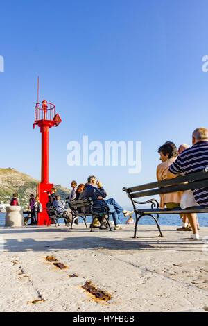 Dubrovnik pier - Stock Image