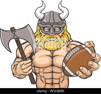 Viking American Football Sports Mascot - Stock Image