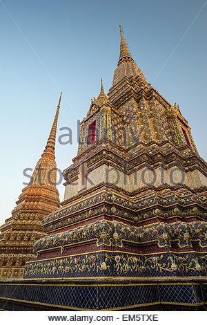 Wat Pho also called Wat Phra Chettuphon - Temple of the Reclining Buddha - Bangkok - Thailand - Stock Image