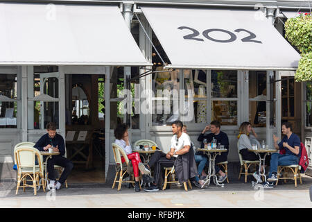 202 Bistro, Westbourne Grove, Bayswater, City of Westminster, Greater London, England, United Kingdom - Stock Image
