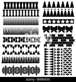 Design elements isolated on white background - Stock Image