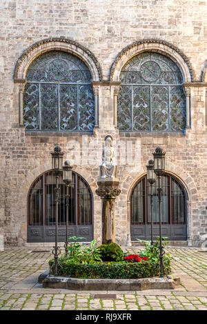 Palau de la Generalitat, Gothic Quarter, Barcelona, Catalonia, Spain - Stock Image
