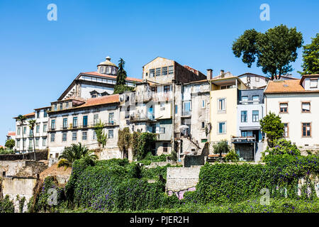 Porto, Portugal, as seen from the Luis 1 bridge. - Stock Image