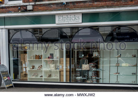 Exterior of 'Elphicks' a traditional department store in the town of Farnham, Surrey - Stock Image