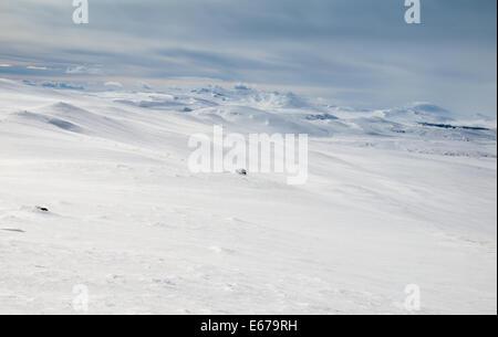Winter mountain landscape. Huldraheimen, Gausdal Westfjel, Norway. - Stock Image