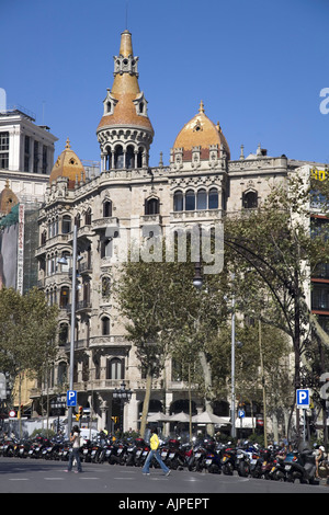 ESP Spanien Barcelona Passeig de Gracia near Plaza de Catalunya Modernism building - Stock Image