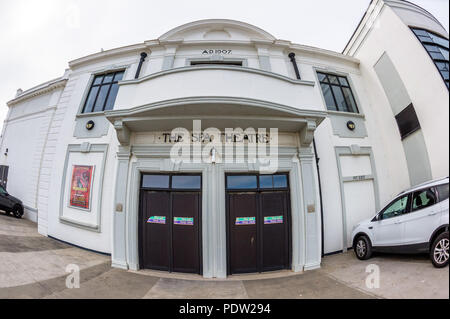 Rear exit from the Bridlington 'The Spa' theatre - Stock Image