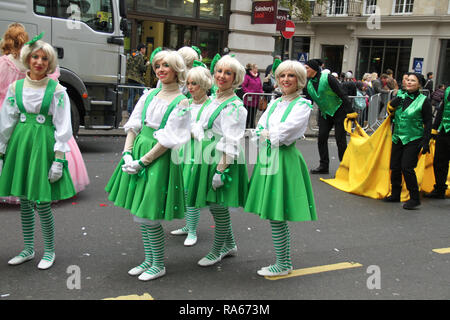 London, UK. 1st January, 2019. About 8,000 performers representing the London boroughs and over 20 countries from across the globe take part on the annual New Years Parade on the street of London. . The parade run from Green Park Tube station to Parliament Square. Photo credit:  David Mbiyu/Alamy New Live - Stock Image