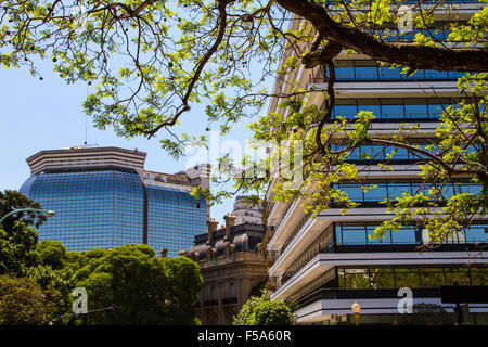 Ministry of Foreign Affairs, view from San Martin Square, in Buenos Aires, Argentina - Stock Image