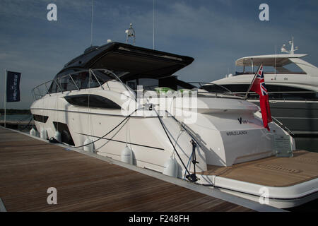 Southampton, UK. 11th September 2015. Southampton Boat Show 2015. The Princess V58 Open launched at the show. Credit: - Stock Image