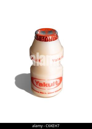 A bottle of Yakult - Stock Image