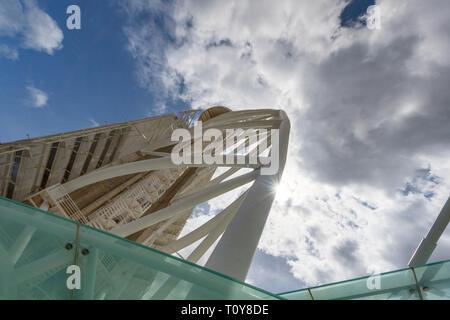 Vasco da Gama Tower fragment. Lisboa, Portugal - Stock Image