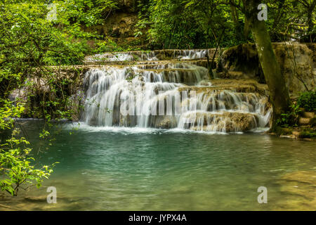 Krushunski waterfall, situated in Bulgaria, Europe - Stock Image