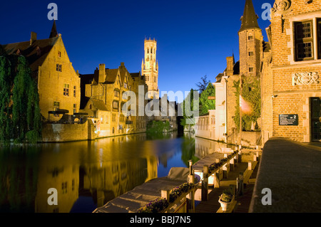 City trip bruges (brugge), Rozenhoedkaai, Belgium - Stock Image