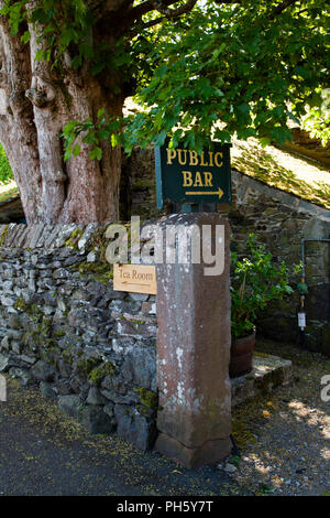A very English dilemma: beer or tea? Howtown, Penrith, Cumbria - Stock Image
