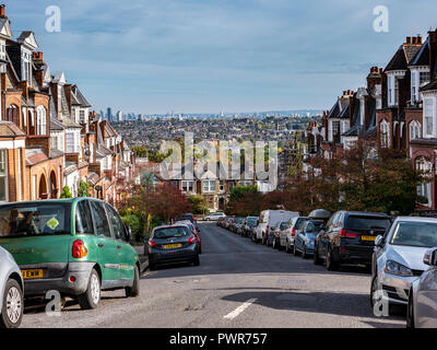 Hillfield Park Road Muswell Hill North London - Stock Image