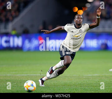 Optus Stadium, Perth, Western Australia. 13th July, 201913th July 2019, Optus Stadium, Perth, Western Australia; Pre-season friendly football, Perth Glory versus Manchester United; Paul Pogba of Manchester United makes a break towards the goal Credit: Action Plus Sports Images/Alamy Live News - Stock Image