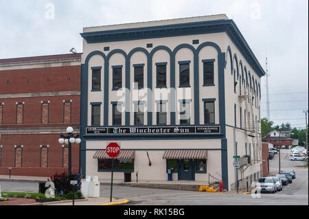 The Winchester Sun in downtown Winchester Kentucky - Stock Image