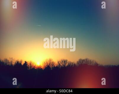 Simple sunset - Stock Image