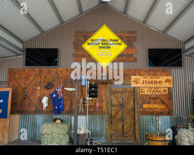 Australiana Sheep Shearing Show - Stock Image