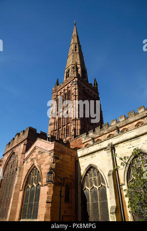 Holy Trinity church on Cuckoo Lane in Coventry city centre UK - Stock Image