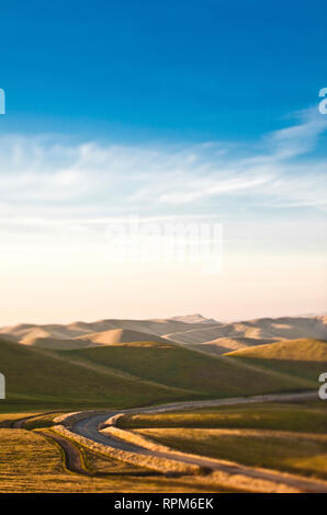 Road in Rolling Hills - Stock Image