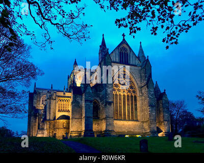 Ripon Cathedral in the city of Ripon in North Yorkshire in the United Kingdom. - Stock Image
