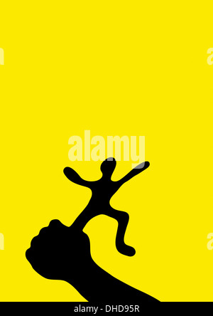 Conceptual illustration of freedom and control in a relationship - Stock Image