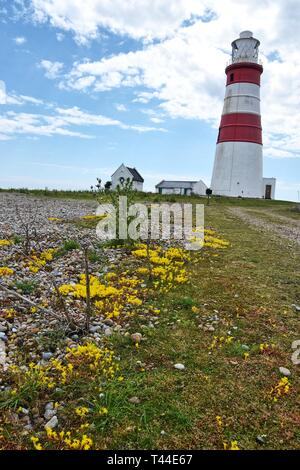 Lighthouse on Orford Ness, Suffolk, UK - Stock Image
