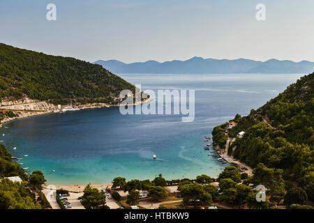 View of Prapratno Bay near Ston; Croatia - Stock Image