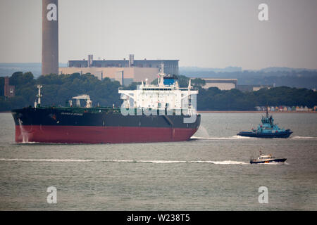 Chemical,Oil,Tanker,Seaways Redwood, Fawley,Refinery, Southampton,The Solent,Cowes,Isle of Wight,England,UK, - Stock Image