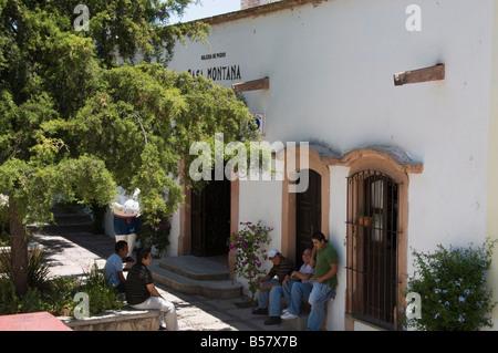 Casa Montana, Mineral de Pozos (Pozos), a UNESCO World Heritage Site, Guanajuato State, Mexico, North America - Stock Image